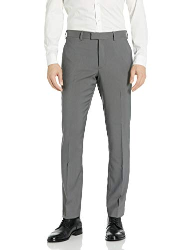 AXIST Men's Flat Front Slim Fit Sharkskin Dress Pants, Castlerock, 34x32
