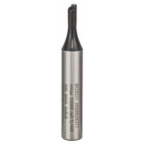 Bosch Professional Nutfräser Standard for Wood (für Holz, Ø 4 mm, Arbeitslänge 8 mm, Zubehör Handfräse)
