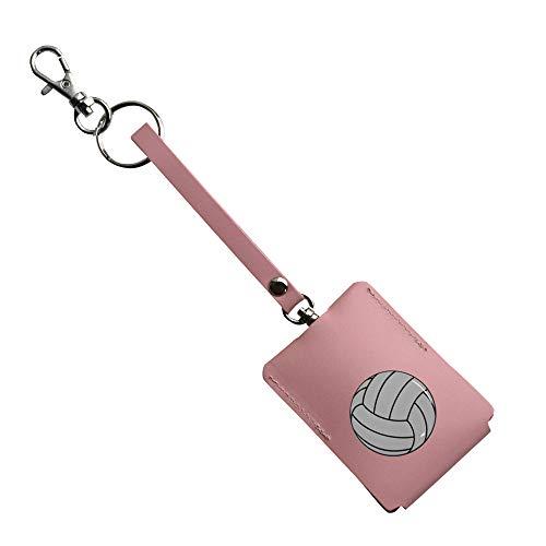 鍵が見えない キーケース 鍵ケース 本革 キーカバー 牛革 日本製 通学 防犯 ピンク バレーボール