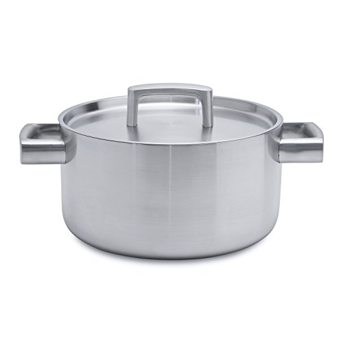 Berghoff Ron en Acier Inoxydable brossé Safe Covered Casserole à Induction, 22 cm