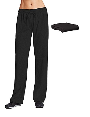 Champion M7421 Womens Jersey Pant Large Black 2 Pack