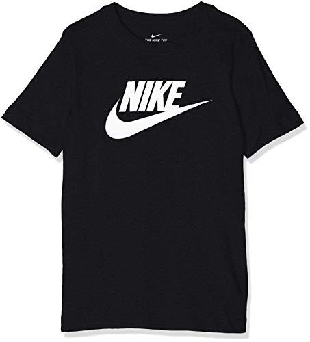 Nike Jungen Sportswear T-Shirt, Black/White, S