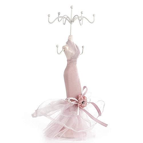 yuyte Model kledingschoenen met hoge haken, oorring, halsketting, ring, sieradenhouder, standaard, rek