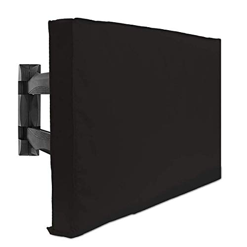 TV Cover 600D Oxford Cloth TV Protector, para LCD, LED, Plasma, Juegos de tesion de Pantalla Plana, Bolsillo de Almacenamiento para Control Remoto Integrado, Varios tamaños, Negro, 40'a 42'
