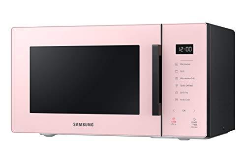 Samsung MG23T5018CP Forno Microonde, 23 Litri, 1100 W, Air Fry, con Piatto Doratore, Glass Design, Cipria