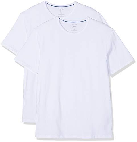 Nur Der Herren T-Shirt Xemp Rundhals 2er Pack, Weiß (White), X-Large (Herstellergröße: 7)