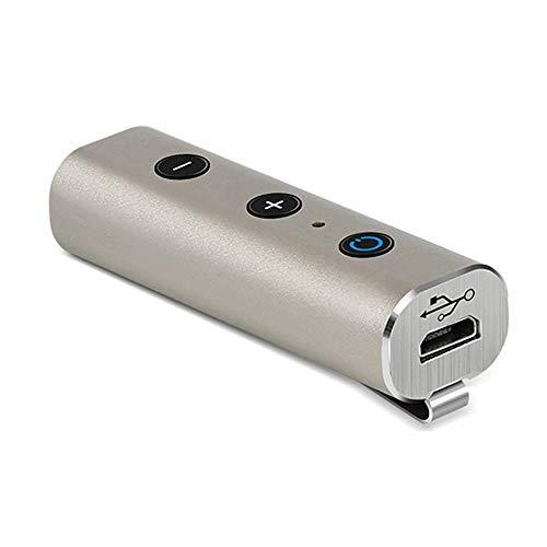 Zeerkeer Car Wireless Bluetooth-Empfänger 4.2 Bluetooth-Musikempfänger-Adapter Stereo-Freisprechanruf Bluetooth-Netzwerkadapter Metall Silber
