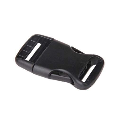 10 Piezas 25mm Hebilla Ajustable Hebillas de plástico del Lanzamiento Lateral Hebillas para el Collar de Equipaje Correas para Mascotas Mochila Reparación del Hogar