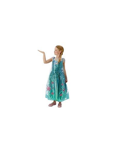 DISBACANAL Disfraz Elsa Frozen Fever Deluxe Infantil - -, 5-6 años