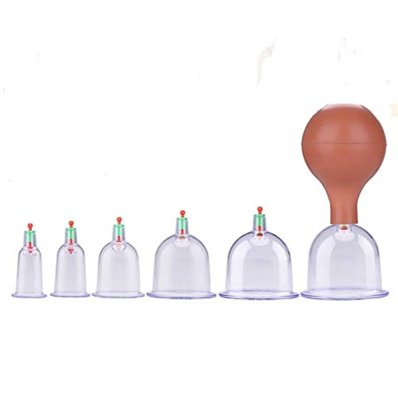 褐色否定する同一性吸い玉カップ6種 ポンプ付き