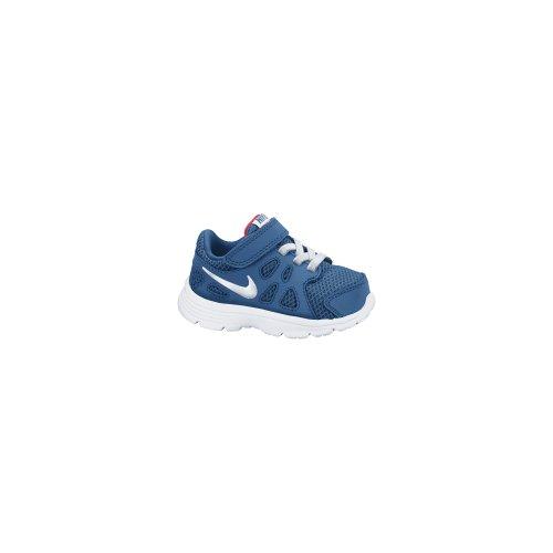 Nike Revolution 2 TDV - Zapatillas de Running para niño, Color Azul/Blanco/Rojo, Talla 18.5