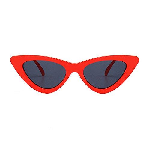 Topgrowth Occhi di Gatto Triangle Occhiali da Sole Donna Vintage Retro Eyewear Integrato UV Caramelle Colorate Bicchieri (D)