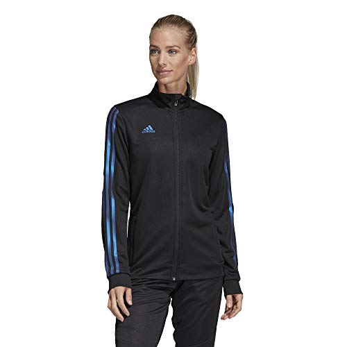 adidas Alphaskin Tiro Trainingsjacke für Damen, Damen, Sweatjacke, Alphaskin Tiro Training Jacket, Schwarz / Blau Pearl Essence, X-Small