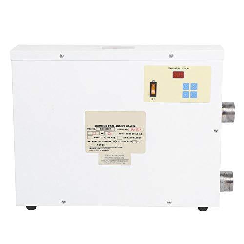 Calentador de piscina, 5.5KW 220V Calentador de piscina Termostato eléctrico SPA Bañera de hidromasaje Calentador de agua automático compatible con control de temperatura inteligente
