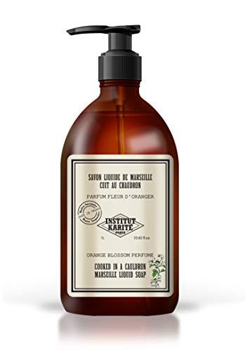 Institut Karité Paris – Savon de Marseille Liquide 1L – Soin Nettoyant et Hydratant pour les Mains et le Corps – Parfum Fleur d'Oranger – So Vintage Soap
