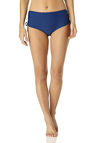 Catalina Women's Standard Side Tie Bikini Swim Bottom Swimsuit, Navy, Medium