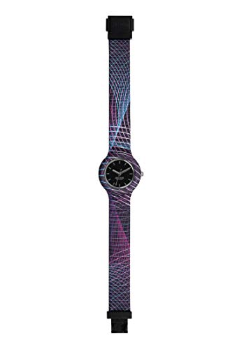 Orologio HIP HOP donna BACK TO THE 90'S quadrante nero e cinturino in silicone nero, movimento SOLO TEMPO - 3H QUARZO
