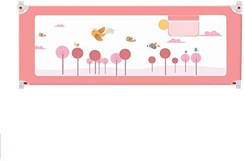 SILOLA Kindersperre Extra langes Bett Kinderbett Kinderbett Einzelbett Klappbetten verfügbar (Farbe: Pink, Höhe: 180 cm)