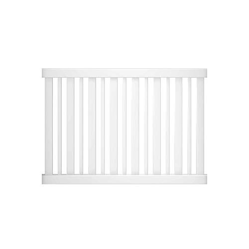 Outdoor Essentials Pro Series Evanston 4 ft. x 6 ft. White Vinyl Spaced Picket Fence Panel