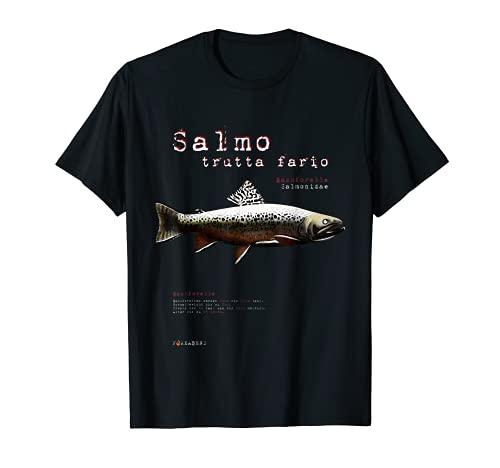BACHFORELLE Salmo Trutta Fario pesca pesca Spinning Camiseta