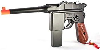 KCHEX 6mm BB New WW2 MAUSER BROOMHANDLE C96 Modern German Airsoft Spring Hand Gun Pistol
