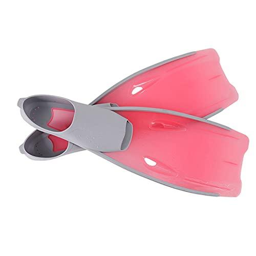ZAYZ Aletas de Snorkel, Adulto Entrenamiento de Natación de Vuelta Aletas de Buceo, No Causa Ampollas (Color : Pink, Size : L)