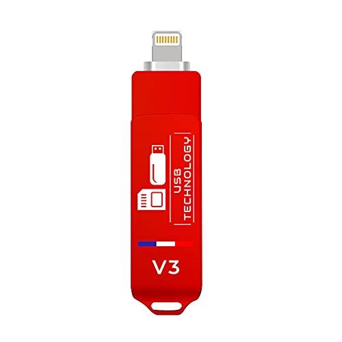 Chiavetta USB 1024 GB (1 TB) compatibile con iPhone, USB 3.1, V3, ultra veloce, ottima qualità