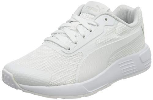 PUMA Taper JR Sneaker, Weiß Weiß Grau Violett, 37 EU