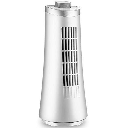 Ventilador de mano Silencioso Ventilador Sin Cuchilla, Hogar Torre Planta Abanico Vertical Mini Ventilador De La Torre, De 120 Grados De Rotación De Escritorio Ahorro De Energía Del Pequeño Ventilador