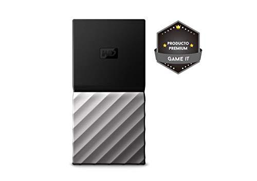 WD My Passport SSD, Almacenamiento portátil de 1TB, Color Negro compatible con PC, Xbox One y PS4