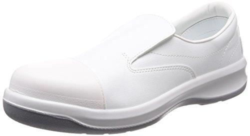 [ミドリ安全] 静電安全靴 クリーンルーム向け トゥキャップ付き スリッポン 短靴 GCR1200 フルCAP メンズ ホワイト 26.5 cm 3E