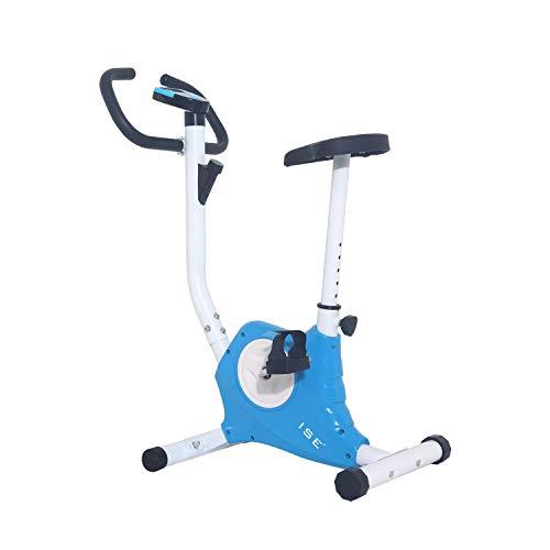 ISE Cyclette da Allenamento, F-Bike Bicicletta Fitness Bike Cardio Trainer per Ufficio/Casa, SY-8018 (Blu)