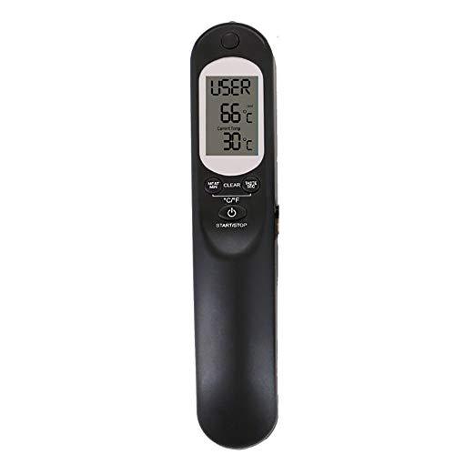 YGD Food Thermometer, Elektronische Digitale Thermometer/Roestvrij staal/Display 7 Soorten vlees Temperatuur/Voice Alarm/USB Opladen/met Zaklamp/Barbecue Thermometer