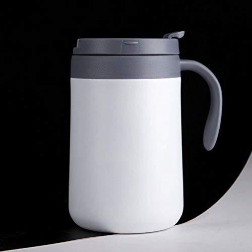 Taza de café de Oficina de Estilo japonés de Moda con asa de Acero Inoxidable Olla de Ocio Olla de vacío Ventosa Taza de Regalo - 500 ml, Oro