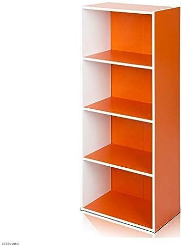 descuento ZHAS Librería Estantería Estantería Estantería de 4 Capas, Librería de Color de múltiples Capas, Combinación de Bricolaje, 2 Colors, 40  24  106 cm (Color  naranja + blanco)  soporte minorista mayorista