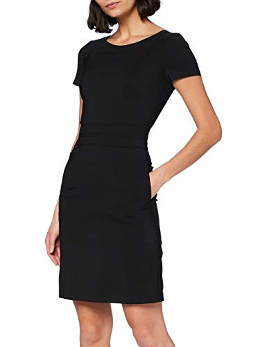 HUGO Damen Kasella 10100035 01 Kleid, Black1, 38