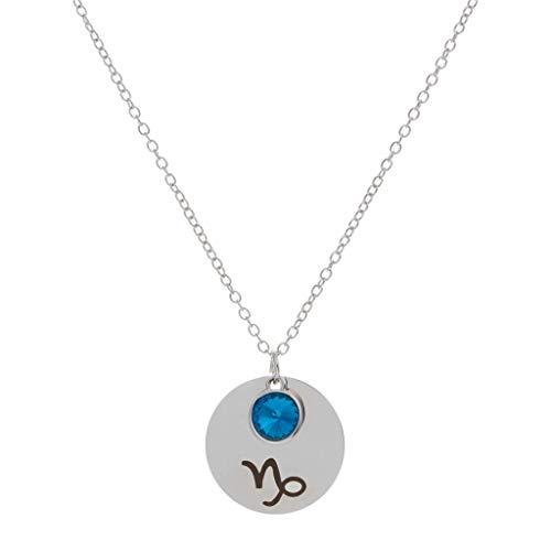 Cloodut - Collar de Plata para Mujer, con Colgante, de aleación y diseño de Llave de Agua Multicolor G
