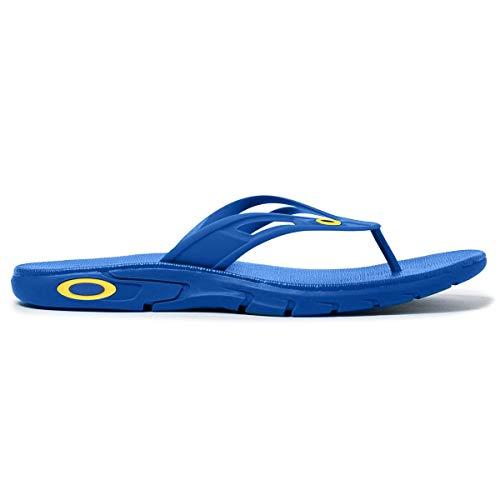 Oakley Ellipse Mens Flip Flop Sandals Electric Shade 9 USA