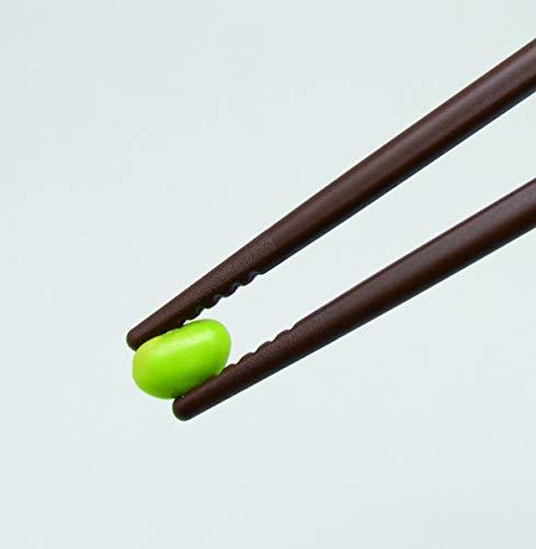 EDISON(エジソン)エジソンのお箸III右手用ダークブラウン20cm大人向け正しく持てる設計リングに指を入れるだけしつけ箸1膳入