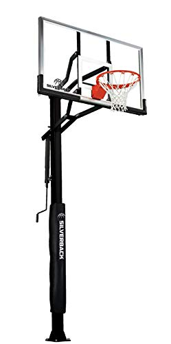Silverback SB-60 In-Ground Basketball System with 60-Inch Aluminum Framed Tempered Glass Backboard