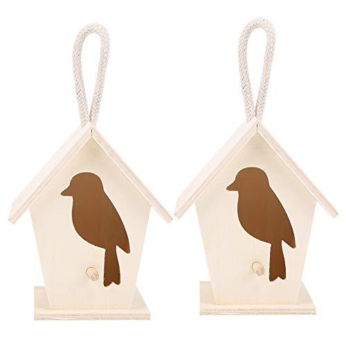AMONIDA Holzvogelhaus, Hängen im Freien Prevue Pet Products 3er-Set Hängendes Vogelhaus, 2 Stück für Außenvögel