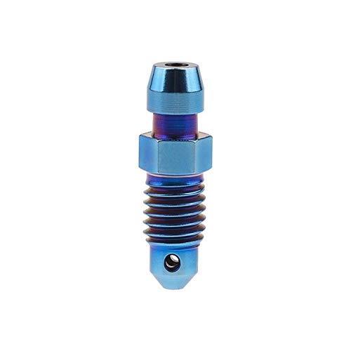 Threaded Titanlegierung Ti M8 M10 Bolzen P1.0 1,25 mm for Motorrad Bremssattel Ölablass Deflations Schrauben (Farbe: blau, Länge: 1,25 mm) äußerlich