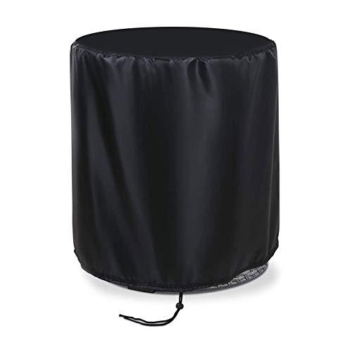 POHOVE - Funda protectora de mesa redonda de poliéster, para exteriores, enfriador de cerveza, impermeable, con cordón, 53 x 58 cm