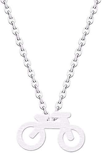 YOUZYHG co.,ltd Halskette Mountainbike Charm Anhänger Halskette Kragen Edelstahl Minimalist Schmuck Halskette für Frauen Männer Geschenke