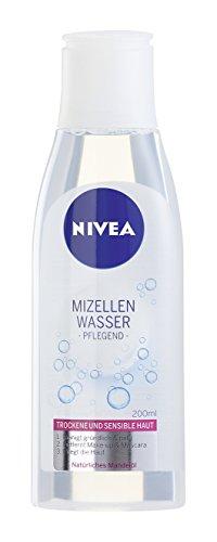 Nivea Mizellen Wasser Reinigendes Gesichtswasser für trockene und sensible Haut, 4er Pack (4 x 200 ml)