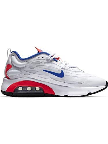 Nike W Air Max EXOSENSE, Scarpe da Corsa Donna, White/Racer Blue-Flash Crimson-Mtlc Silver-Black, 38 EU