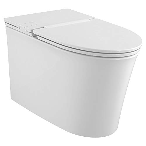 American Standard 2548A100020 Studio S Right Height Elongated LowProfile Toilet with Seat White