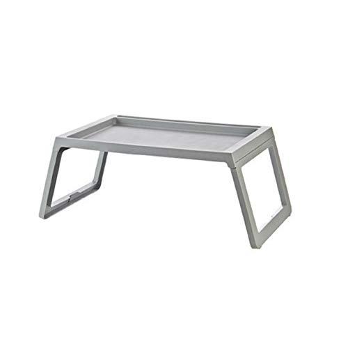 Jiaodie Sofa Laptop Bett Tisch beweglich flach Stil Design Stehpult Notebook Ständer Frühstück Snack Tablett Buchhalter für Terrasse Balkon Garten grau
