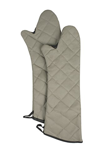 RITZ Food Service CL2PX10BETF-1 Professional Grade Flame-Resistant 24-Inch Pyrotex Oven Mitt, Set of 2, Beige