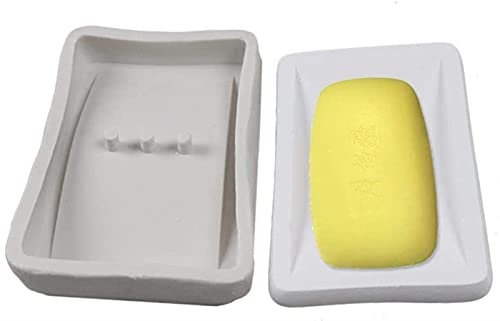 GDEVNSL Molde de Soporte de Caja de jabón de Silicona de Bricolaje Reutilizable Molde para Hornear Pasteles Molde de Silicona para Manualidades de hormigón para Pasteles, pudines, Chocolates